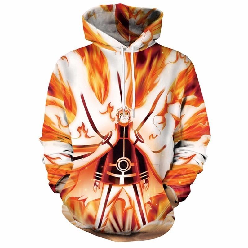 Naruto 3D Printed Hooded Sweatshirt Uzumaki Naruto Uchiha Sasuke Cosplay Hoodies Pullovers Men Women Outerwear