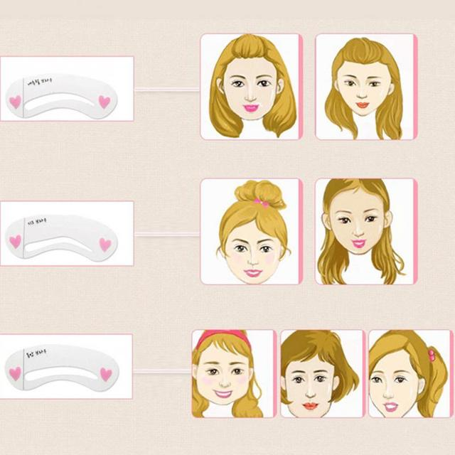 3pcs Simple Eyebrow Mold Guide Card Eyebrow Stencil Shaping Grooming Eye Brow MakeUp Template Reusable Eyebrows Styling Tool #40 1