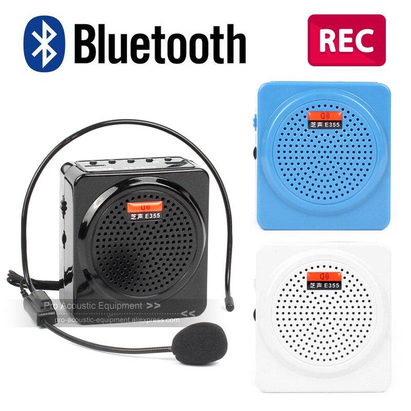 Megaphon Bluetooth Stimme Verstärker Megaphon Amp Pa System Booster Lautsprecher Ohrhörer Mikrofon Recorder Fm Radio Lehrer Tour Guide Coach Zur Verbesserung Der Durchblutung Unterhaltungselektronik