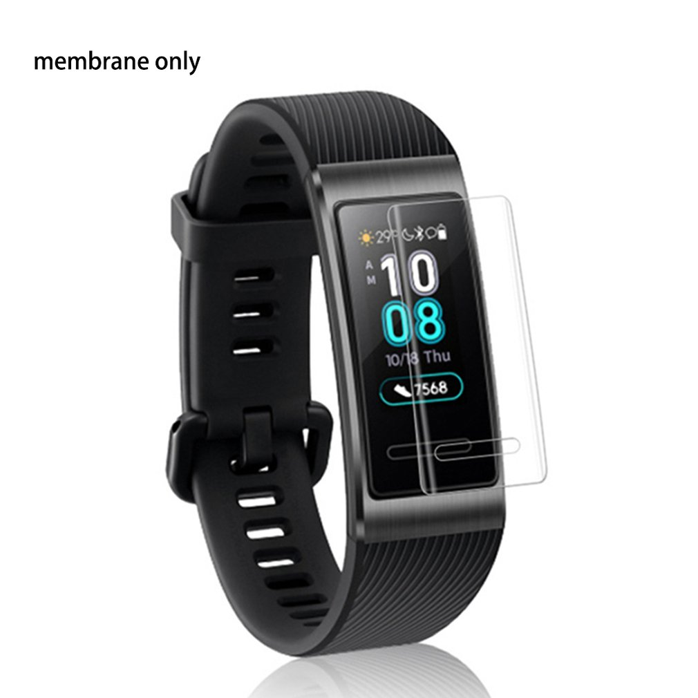 For Huawei Band 3 Pro Watch Full Protective Film Hd Nano Scratch-resistant Tempering Full Cover Protective Film 2019 Trabsparent