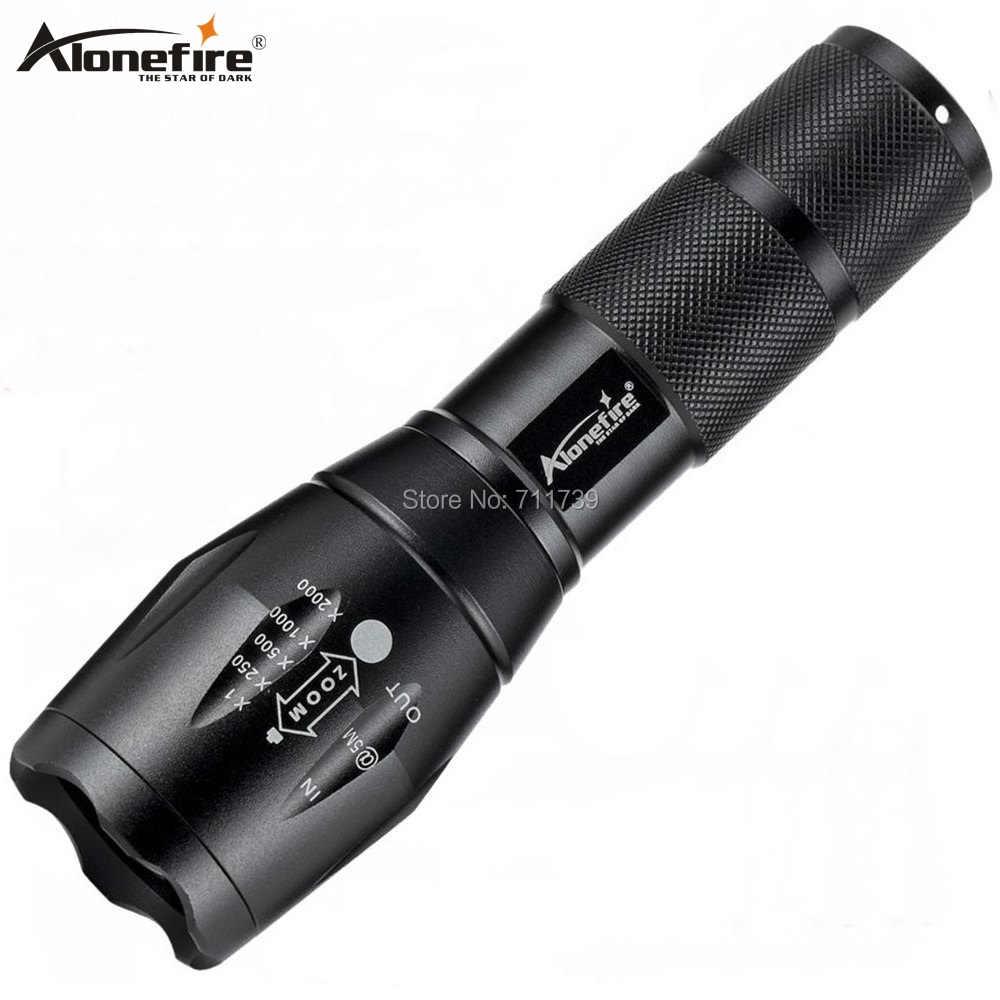 AloneFire E17 lampe de poche LED haute puissance CREE XML T6 5000LM étanche Zoomable lampe torche lumière for18650 batterie Rechargeable