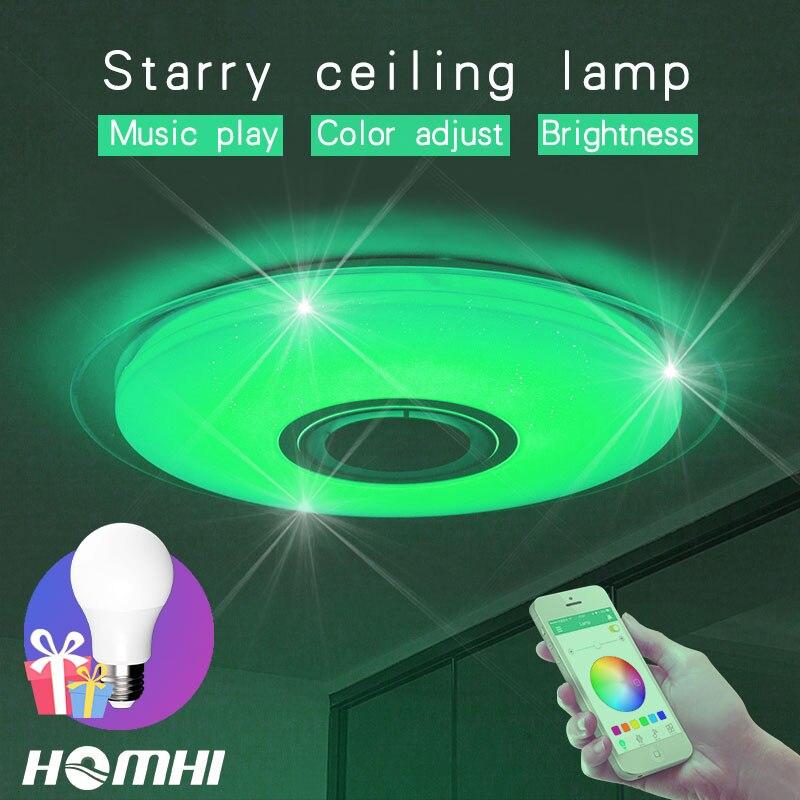 52 w Musica Moderna lampada da soffitto a LED per la camera da letto Decorazione Della casa luce per bambini bambini in camera luce Blu cielo stellato luce apparecchi di