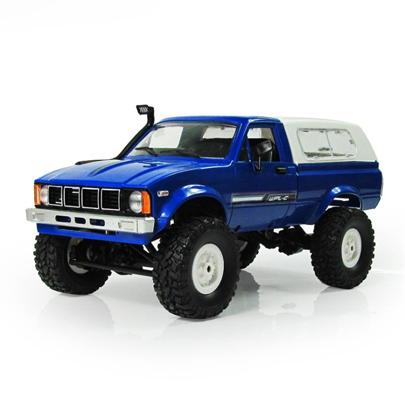 WPL C 24 1 16 Scale RC Rock Crawler 4WD Off road Military Truck Toy Radio Rc Truck Remote Control Car Buggy For Children in RC Cars from Toys Hobbies