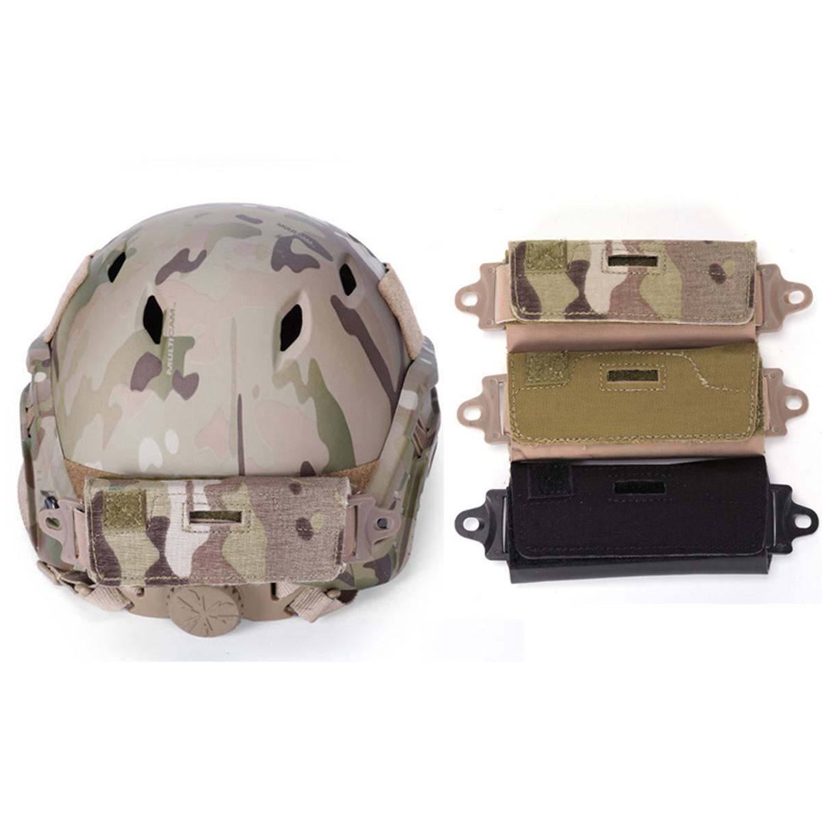 Tactical Combat Helmet Accessory FAST Rear Pouch Balancing Counter weight Bag BK
