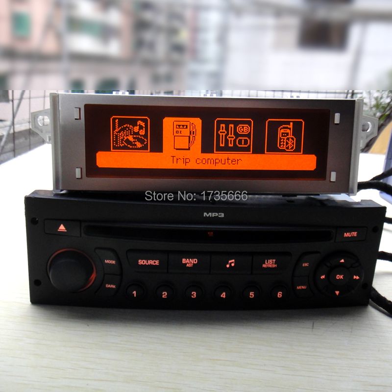 Original Red Monitor + RD45 Car Radio CD Player Supports Bluetooth AUX USB MP3 For Citroen C3 C4 C5 For Peugeot 207 206 307 308