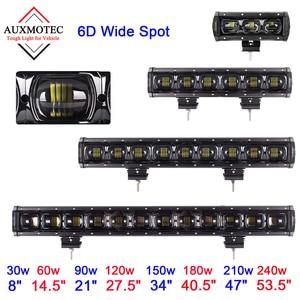 6D barre de lumière Led de tache large 12v 30w 60w 90w 120w 150w 180w 210w 240w 8