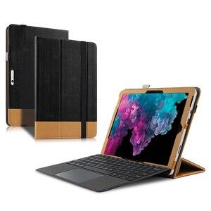 "Image 5 - Funda protectora para Microsoft Surface Pro 6, piel sintética, para new Surface pro 6 pro6, 12,3 "", tableta, portátil, modelo 1796, PU"