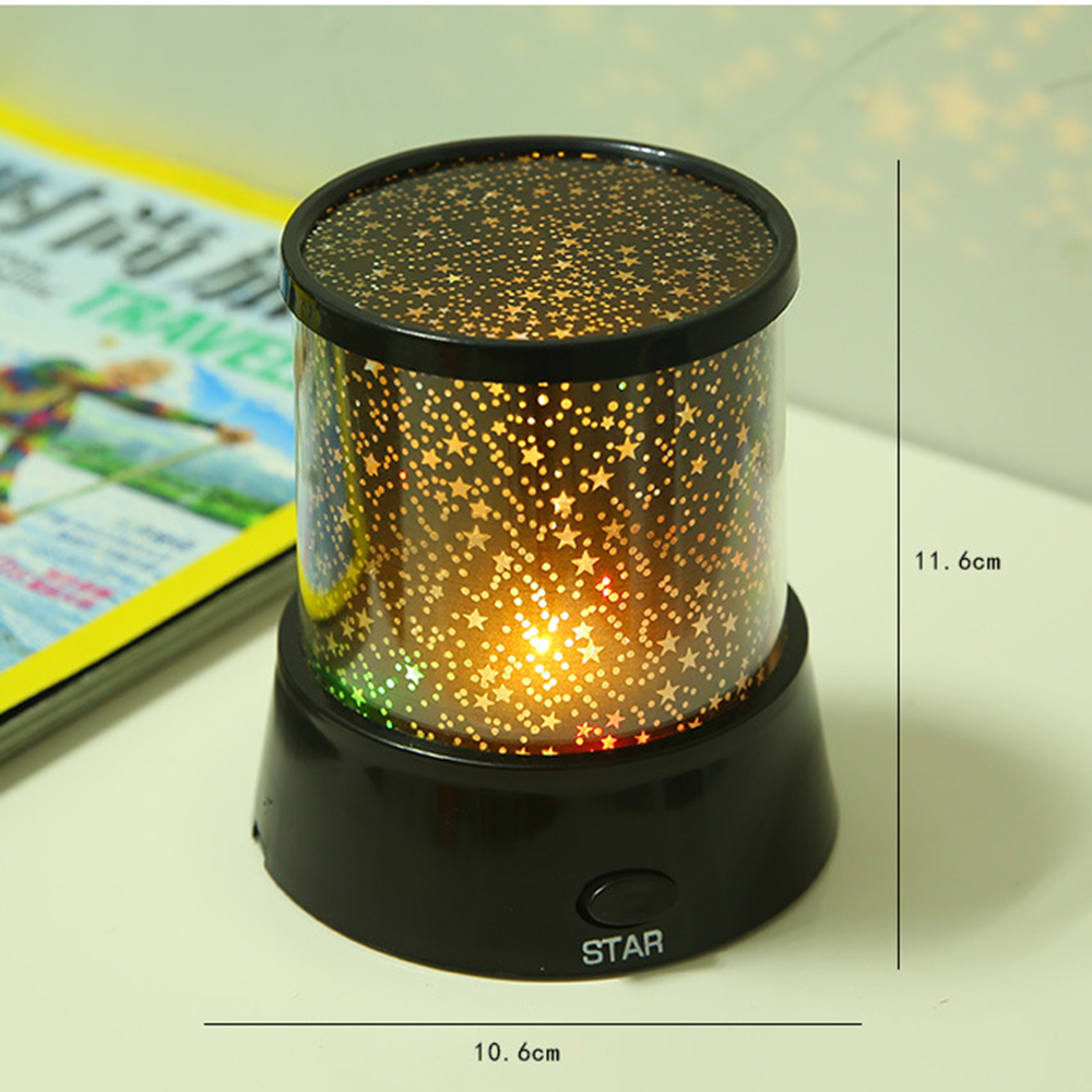 Image 3 - LED Night Light Projector Starry Sky Star Moon Round Stage Light Kids Sleep Romantic Colorful Led USB Lamp For Bedside Bedroom-in Night Lights from Lights & Lighting