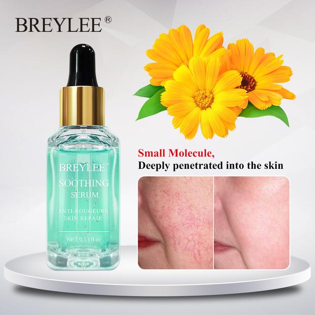 BREYLEE Serum Repairing Sensitive Skin Remove Fade Redness Treatment Soothing Acne Scar Snail Serum Whitening Face Skin Care