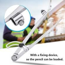 Углеродистая сталь 200 мм крыло делитель карандаш маркировка компас-круг производитель регулируемый писец для ремесленника студента плотника