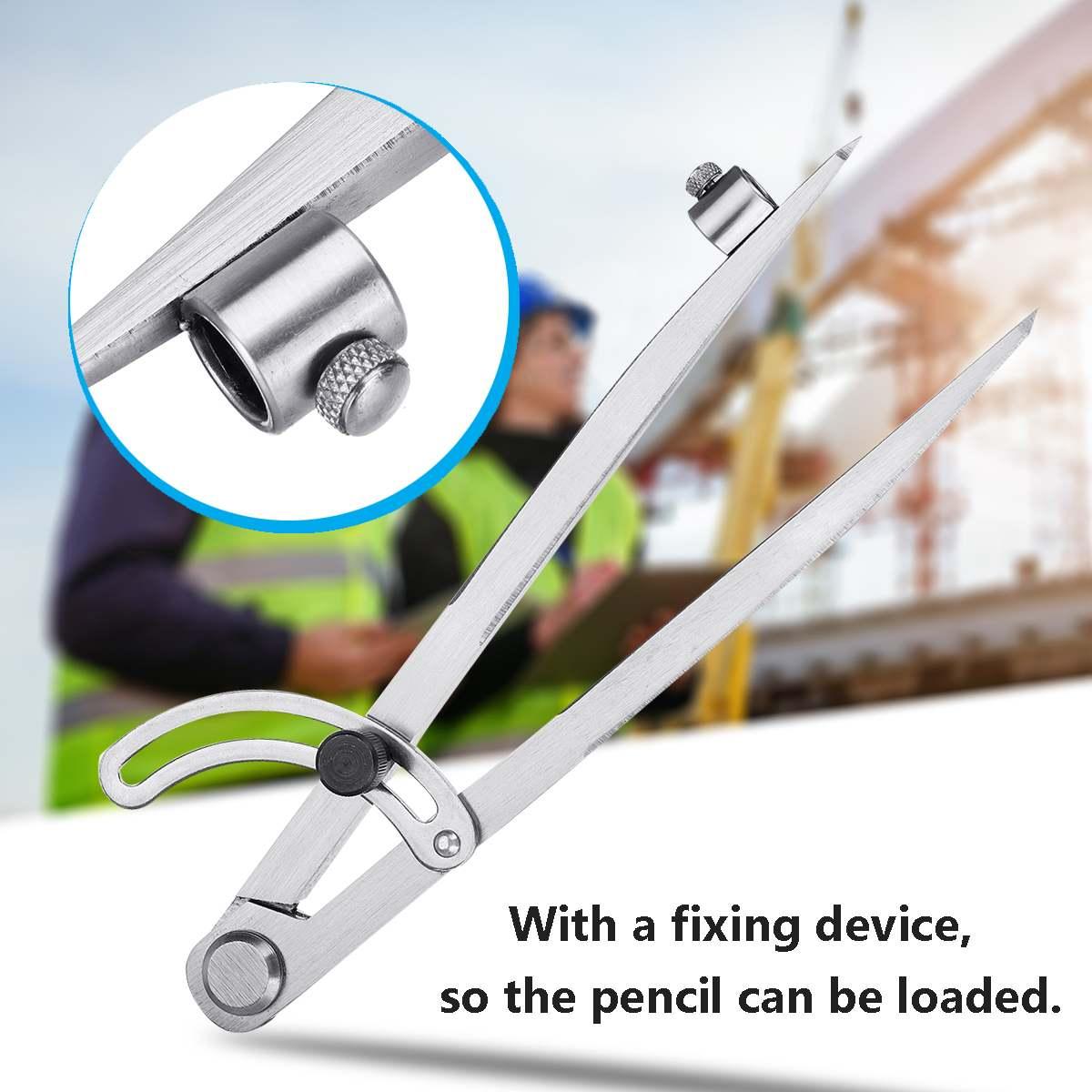 Carbon Steel 200mm Wing Divider Pencil Marking Compass-Circle Maker Adjustable Scriber For Craftsman Student Carpenter Architect