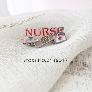 Image 3 - 10pcs Hot Sale Doctor Medical Hospital Metal Pins Badge Gift Red Nurse Needle Bandaid First Aid Kit Enamel Lapel Pin and Brooch