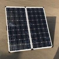 Складная солнечная система 200 Вт с контроллером для начинающих 2X100 Вт солнечная панель с алюминиевым кронштейном подставка для яхты RV лодка