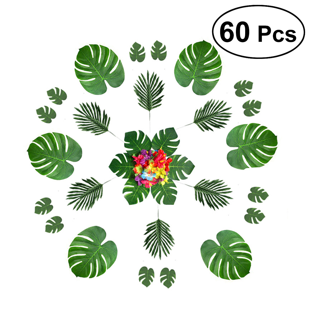 Hawaiian Lei Garland Multicoloured Large Hibiscus Flower Party Accessory Set