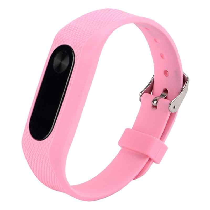 220mmSilicone Bracelet Strap For Miband 2 Colorful Strap Wristband Belt Replacement Smart Band Accessories For Xiaomi Mi Band 2