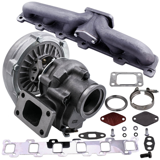 US $191 2 20% OFF|Turbo Turbocharger Manifold for Nissan Patrol Safari GU  GQ 4 2L TD42 TB42 for T04E T3 T4  63 A/R 55 Compressor 400HP Stage III-in