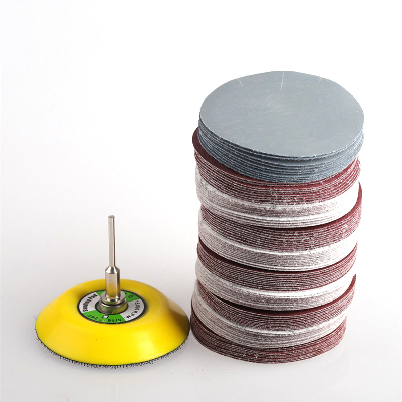 100pcs 25mm Sanding Papers Mixed Grit 80 600 1000 2000 3000 Sanding Disc Round Abrasive Dry Sandpaper Flocking Sandpaper