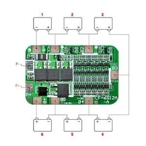 Image 2 - 1 PCS 6 S 15A 24 V PCB BMS Bordo di Protezione Per 6 Pack 18650 Li Ion Cellula di Batteria Al Litio Modulo kit fai da te