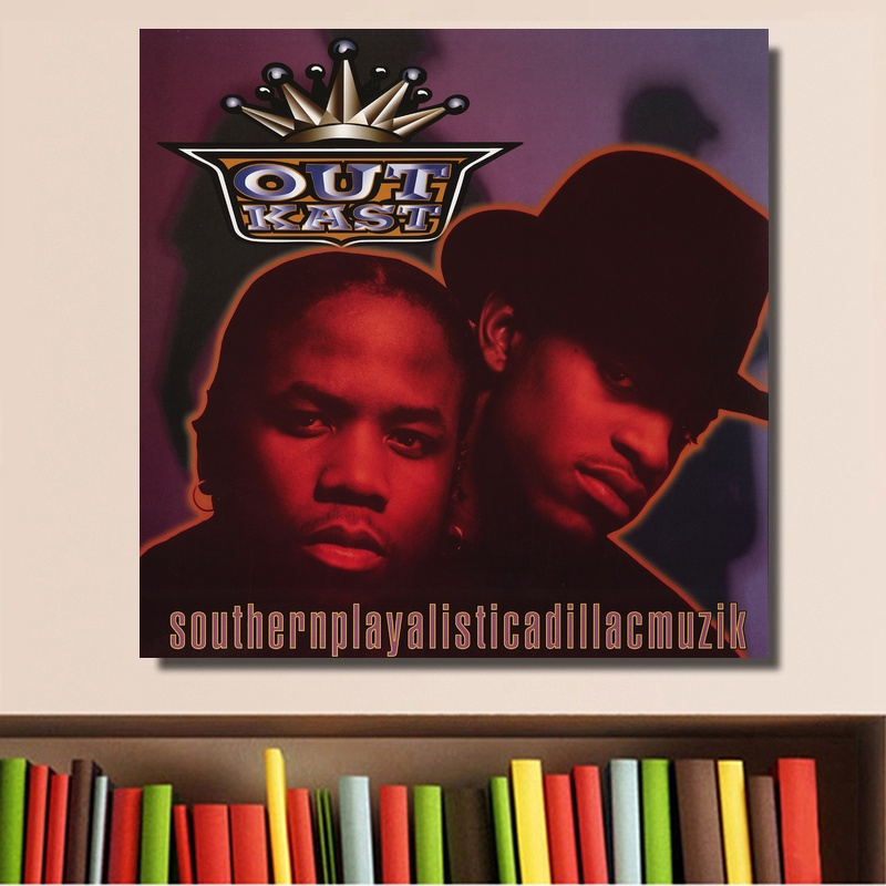 Outkast Southernplayalisticadillacmuzik Poster Album Music Cover Poster Print on Canvas Home Decor Wall Art No Frame image