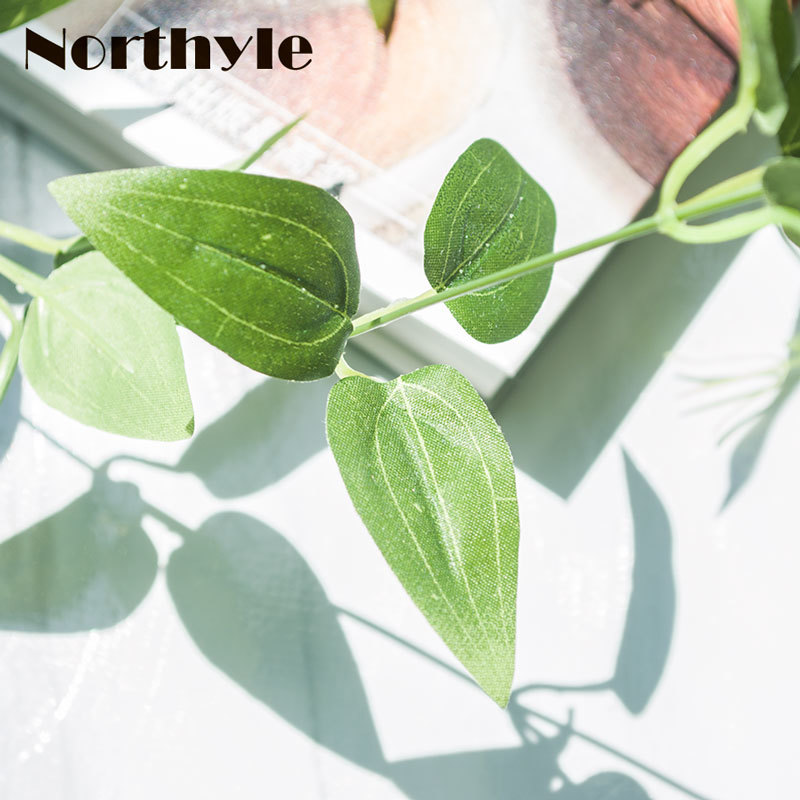 Northyle 90cm Artificial Leaves String Home Decoration DIY Artificial Grass Fake Leaf Fairy Garden Artificial Plants in Artificial Plants from Home Garden