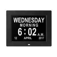 Day Clock Digital Day Alarms Clock Calendar For Memory Loss Dementia Elderly Large Date Time Display