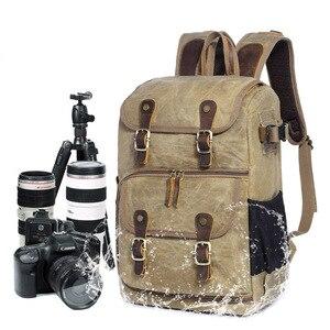 Image 2 - Batik Camera Bag Canvas Camera Backpack Waterproof Multi functional Outdoor Wear resistant Camera Backpack for Canon/ Sony/Nikon