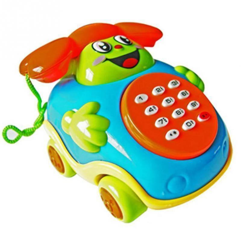 Baby Toys Sound Light Early Childhood 0-12 Months Cartoon Mushrooms Telephone Children Musical Electronic Toy Phone