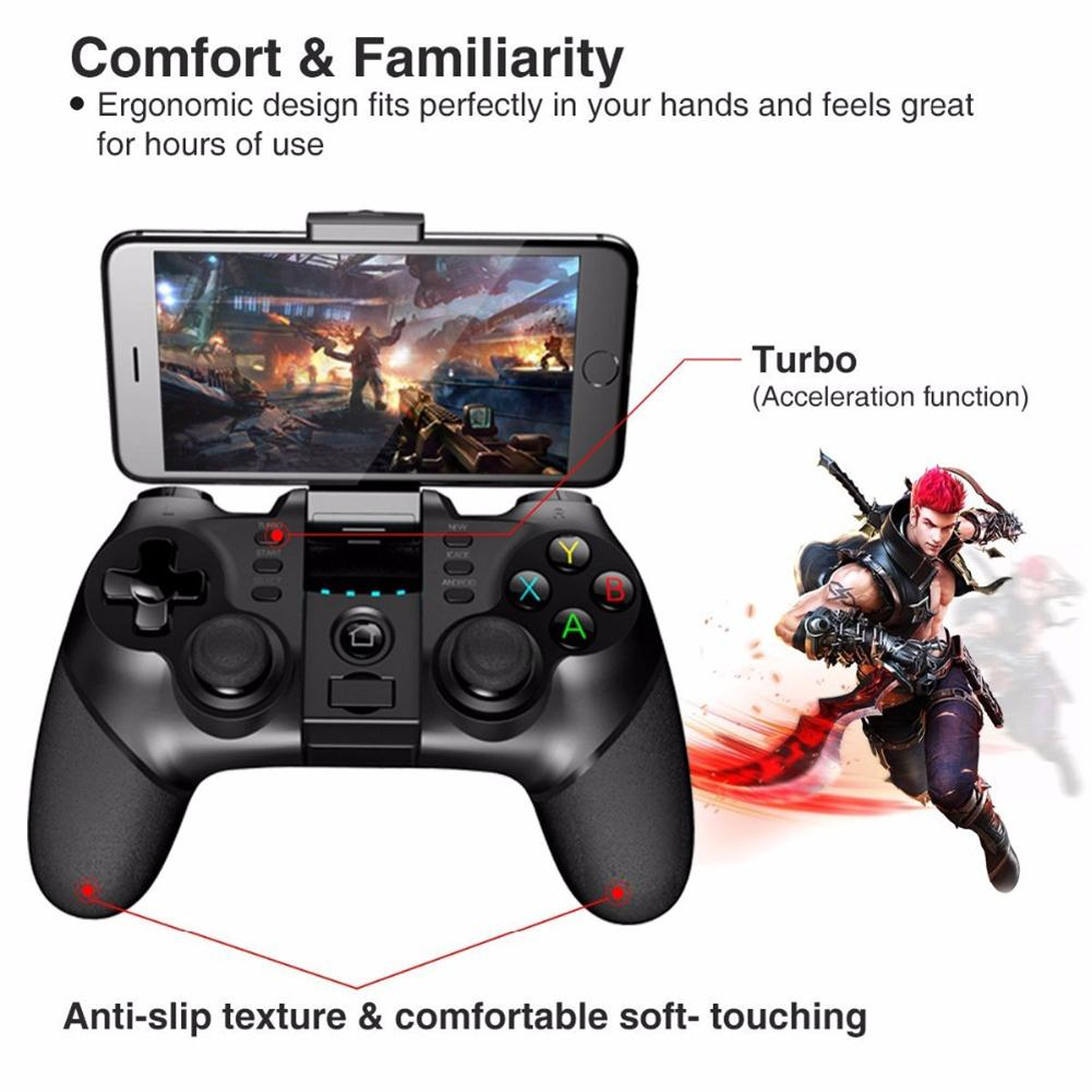 Image 5 - Bluetooth Wireless Handle Gamepad 2.4G Wireless Bluetooth Receiver Support Ps3 Game Console Player Foripega 9076 Batman Handle-in Gamepads from Consumer Electronics