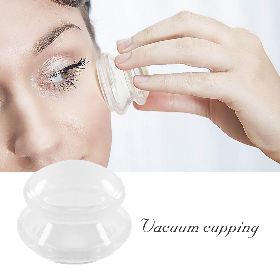 Silicone Massage Cups Transparent Moisture Absorber Anti Cellulite Ventosa Facial Cupping Cup Vacuum Cupping Therapy Suction Cup