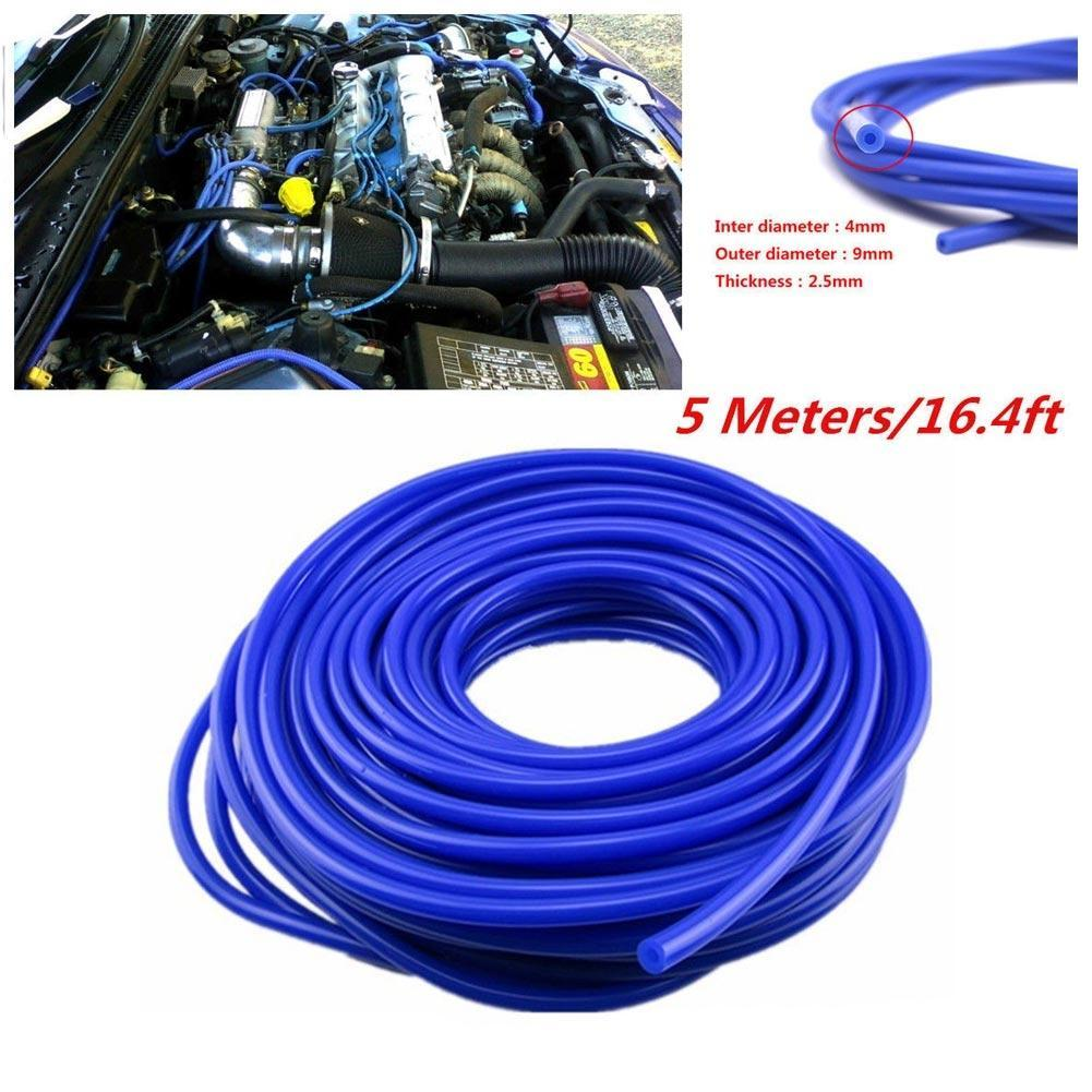 16.4ft 5M 4mm Silicone Vacuum Tube Hose Silicon Tubing for Car Cooling System