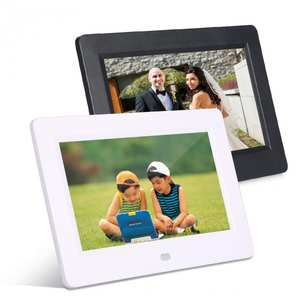 Digital HD LED Electronic Photo Frame Clock Calendar Music Video Player