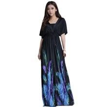 Women Summer Boho dress Vestidos Largos Robe Femme Beach Dress Plus Size  6XL Bohemian Maxi Dress 4af409b2daa1