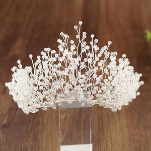 Image 5 - Big Luxury Hair Crystal Crown Rhinestone Headband Tiara Wedding Hair Accessories Bridal Headpiece Handmade Jewelry Girls Diadema