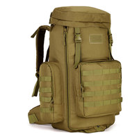 Outdoor Travel Backpack 70 to 85L Large Capacity Adjustable Multifunction Hiking bags Nylon pack Tactical Molle System Rucksack