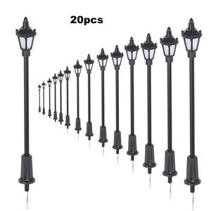 20pcs White/Warm White Model Street Lights Layout Lamppost Railroad Train Garden Playground Scenery Led Lamp Lighting 100/70mm