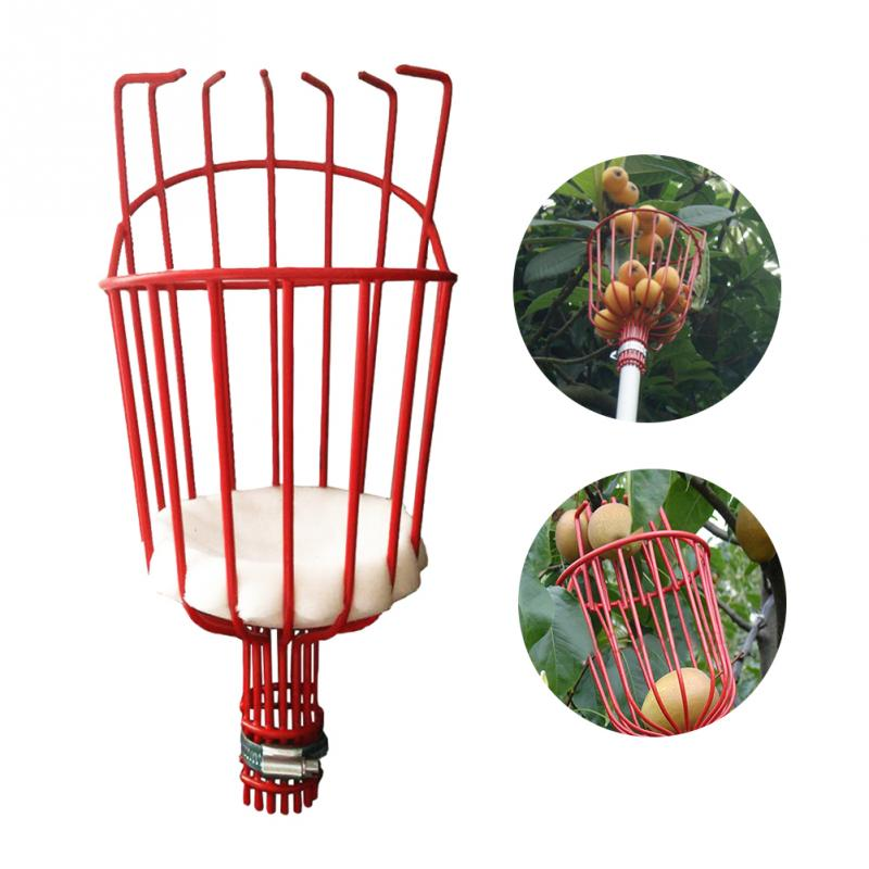 Free Shipping Aluminum  Deep Basket Fruit Picker Convenient Horticultural Fruit Picker Gardening  Peach Picking Tools