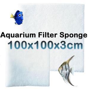 Brand New Durable Filter Sponge Pad Aquarium Wool Fish Tank White Washable 100 * 100 * 3cm(China)