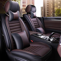 GLCC Universal Leather Car Seat Cover Breathable Seat Cushion Auto Car Accessories Styling