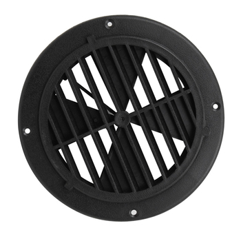 6.5 Inch Boat Round Louvered Vent For RV Motorhome Marine Ventilation UV Protection 0.7 Inch PP Boat Accessories Marine 4 inch white black plastic air outlet marine vent for car motorhome yacht motorboat fishing boat rv marine