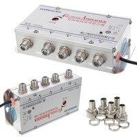 US Plug 4Way CATV VCR ТВ антенна усилитель сигнала усилитель сплиттер 20 дБ 45-860 МГц 1 в 4 выхода CATV усилитель сигнала