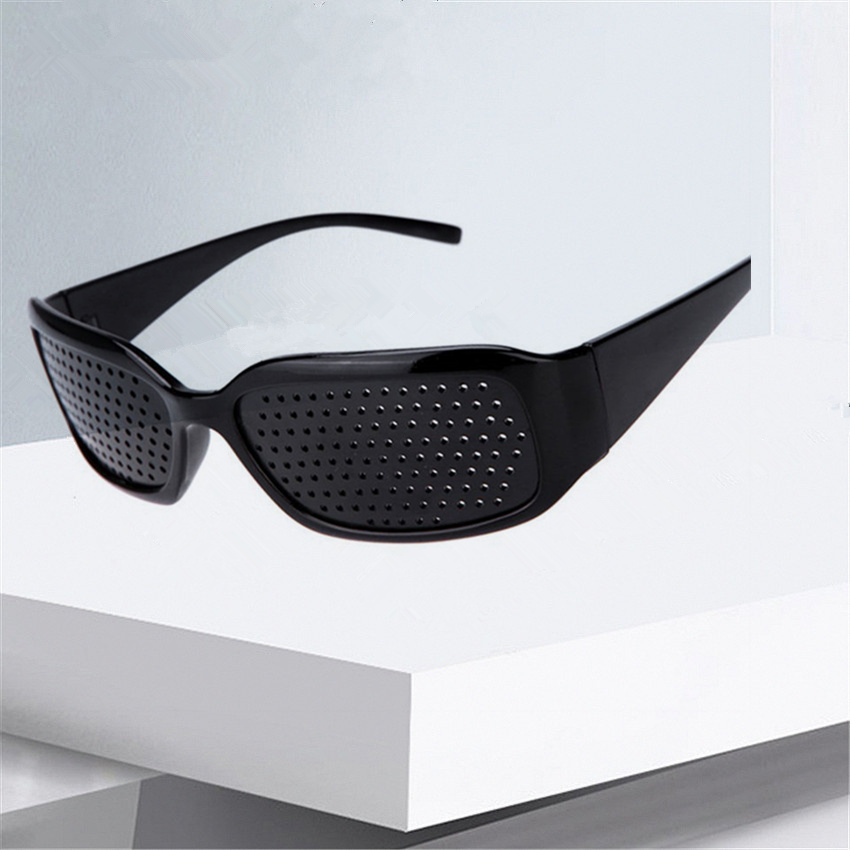 XojoX Black Pinhole Improve Anti-myopia Sunglasses Anti-fatigue Vision Care Pin Hole Microporous Glasses Eye Exercise Eyesight