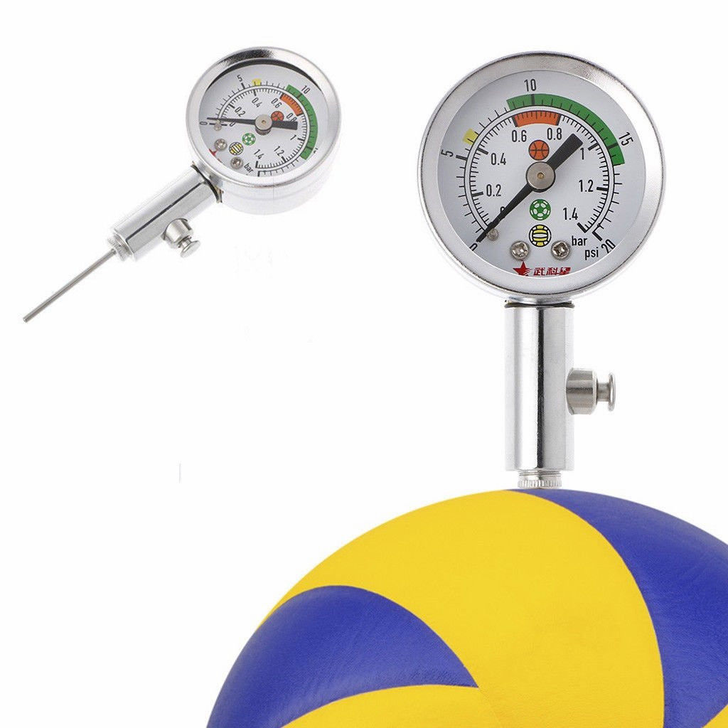 Portable Soccer Ball Pressure Gauge Universal Air Watch Football Volleyball Basketball Barometers