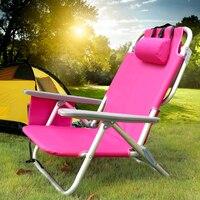 Складной пляжный стул Сверхлегкий со спинкой кресло пеший Туризм Кемпинг Пикник складной шезлонг уличная мебель Recline или лежала