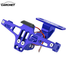 CARCHET Motorcycle License Plate Bracket Licence Plate Holder Frame Number Plate For YAMAHA R6 2004 2005 2006 KAWASAKI Z800 Z750 стоимость