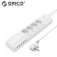 ORICO OSJ 4A5U EU 4 AC Outlets 5 USB Ports Desktop Charger Multifunctional electrical Socket