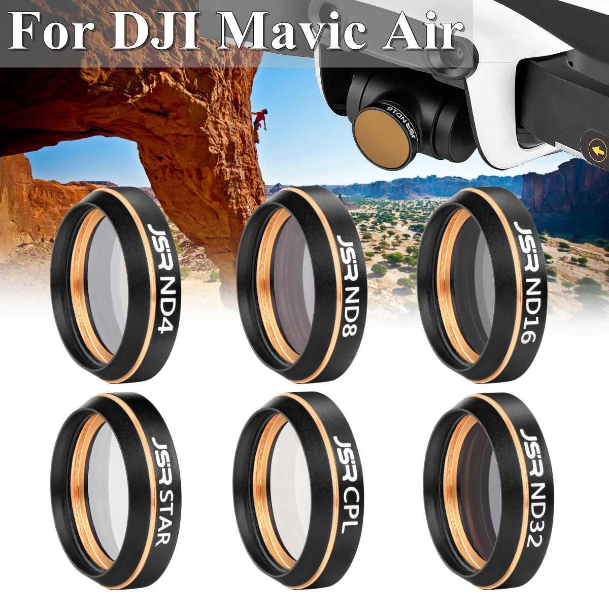 Pour DJI Mavic Air Drone 6 en 1 ND4 ND8 ND16 UV CPL STAR étanche caméra lentille filtres