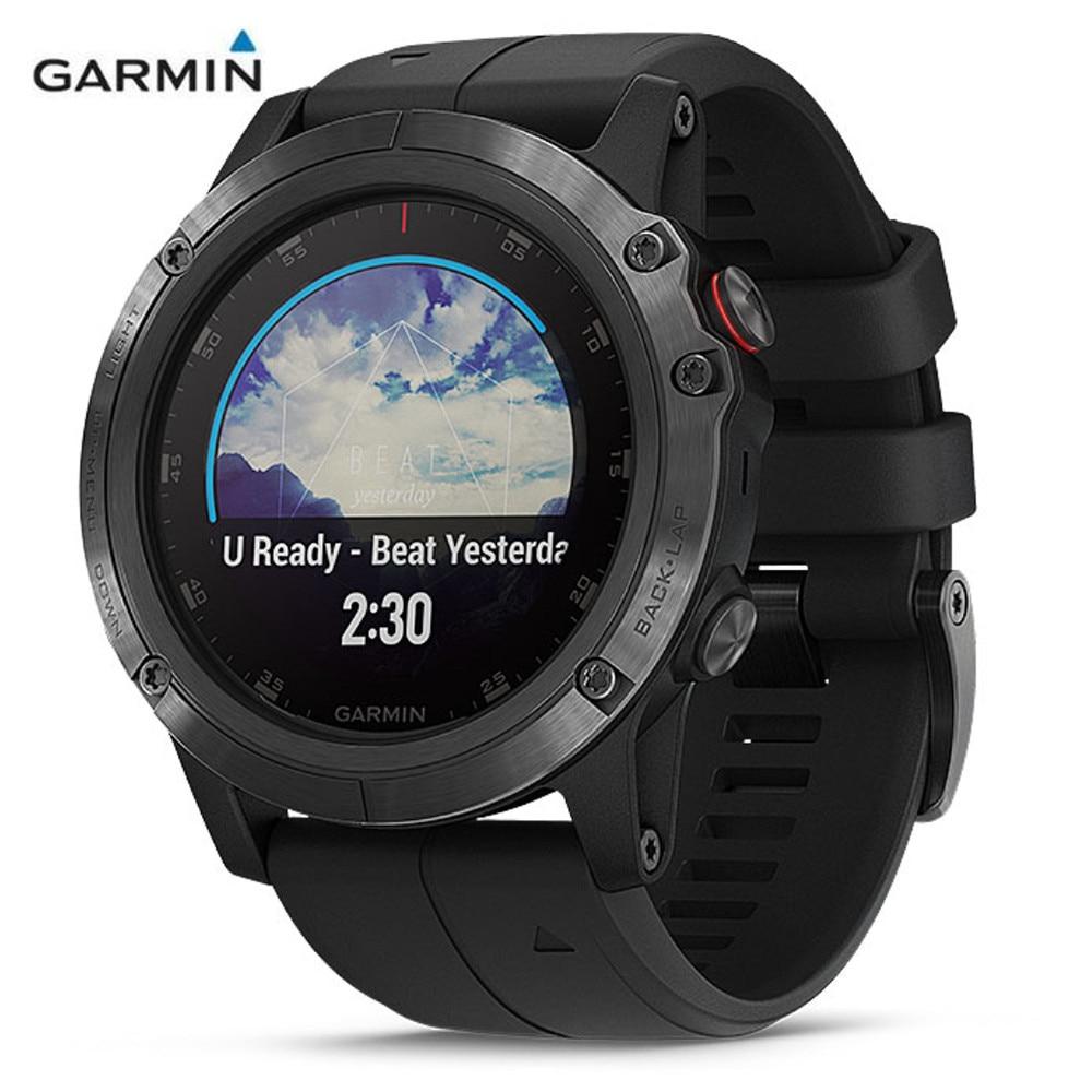 GARMIN Fenix 5X Plus Sapphire Mirror GPS Smartwatch Sports Bluetooth 4.0 Heart Rate Monitor Pedometer Waterproof Smart Watch цены онлайн