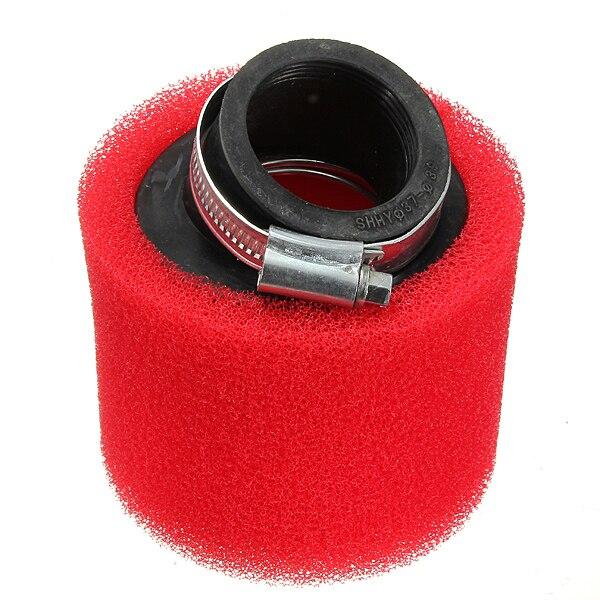 38 мм ATV PIT DIRT BIKE 45 градусов угловой воздушный фильтр Pod очиститель 110cc 125cc красный CRF50 XR50 CRF