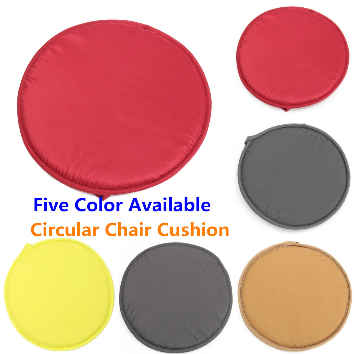 30cm Round Circular Removable Chair Cushion Seat Pads For Bistro Tie On Kitchen Dining Home