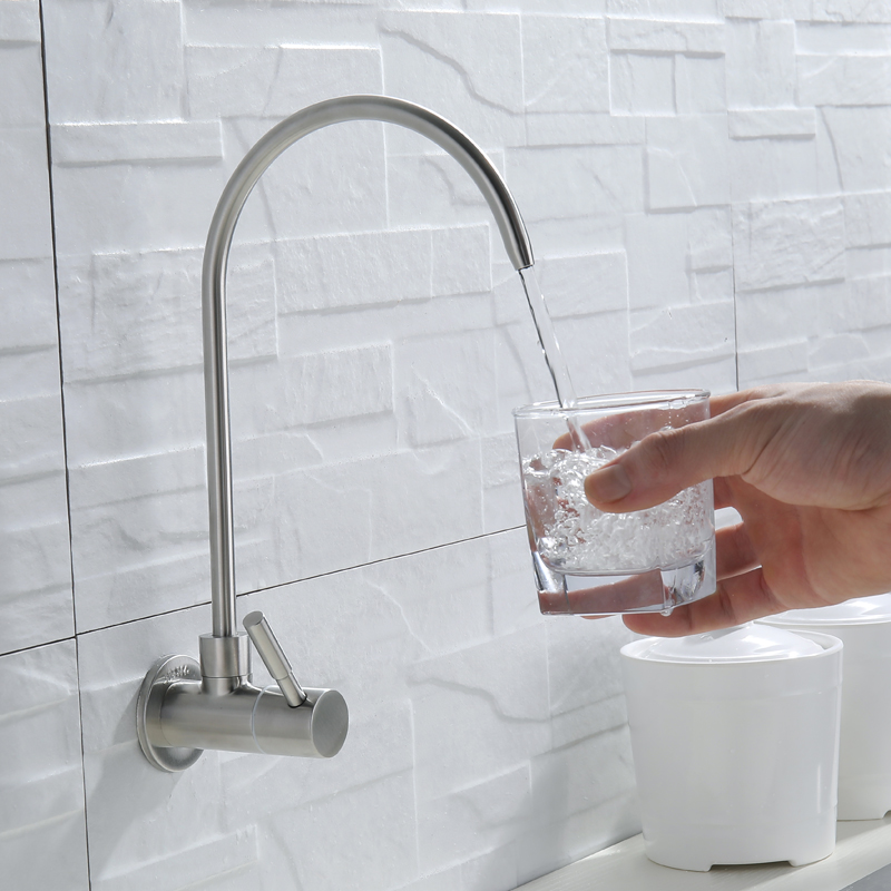 RO Faucet SUS304 Stainless Steel Lead-free Faucet Filter Plaged Reverse Osmosis Filters Drinking Tap 1/4 Inch Brushed Nickel